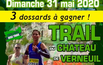 3 dossards Trail du Château de Verneuil 2020 (Oise)