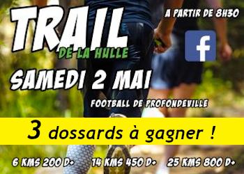 3 dossards Trail de la Hulle 2020 (Belgique)