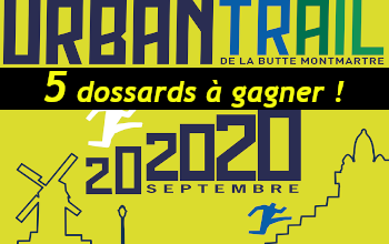 5 dossards Urban Trail de la Butte Montmartre UTBM 2020 (Paris)