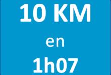 Plan d'entraînement 10 km en 1h07