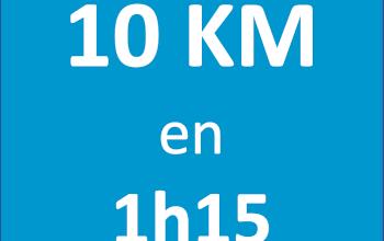 Plan d'entraînement 10 km en 1h15