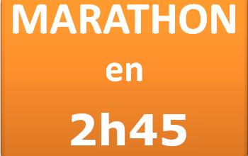 Plan d'entraînement marathon 2h45