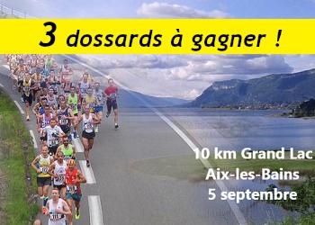 3 dossards 10 km Grand Lac 2021 (Savoie)