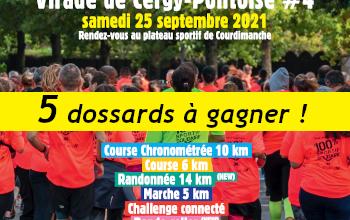 5 dossards Course de l Espoir de Cergy-Pontoise 2021 (Val d'Oise)