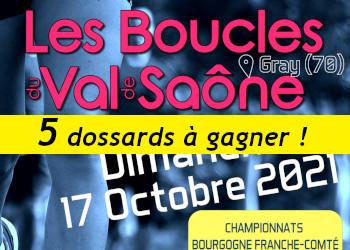 5 dossards Boucles du Val de Saône 2021 (Haute Saône)