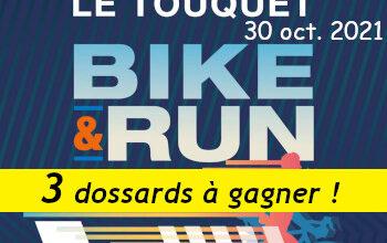 3 dossards Touquet Bike & Run 2021 (Pas de Calais)
