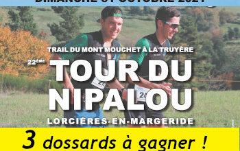 3 dossards Tour du Nipalou Trail 2021 (Cantal)
