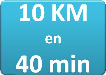 Plan d'entraînement 10 km en 40 min.