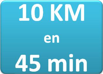 Plan d'entraînement 10 km en 45 min.