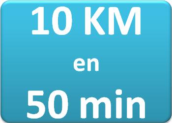 Plan d'entraînement 10 km en 50 min.