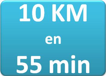 Plan d'entraînement 10 km en 55 min.